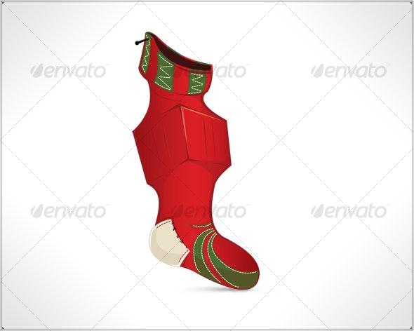Christmas sock - Christmas Seasons/Holidays