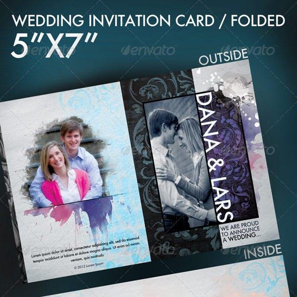 "5""x7"" Wedding invitation (Folded)"