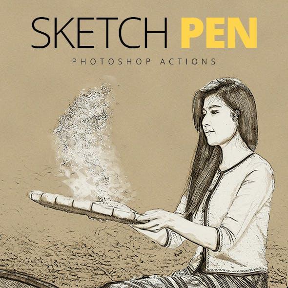 Sketch Pen - Photoshop Actions