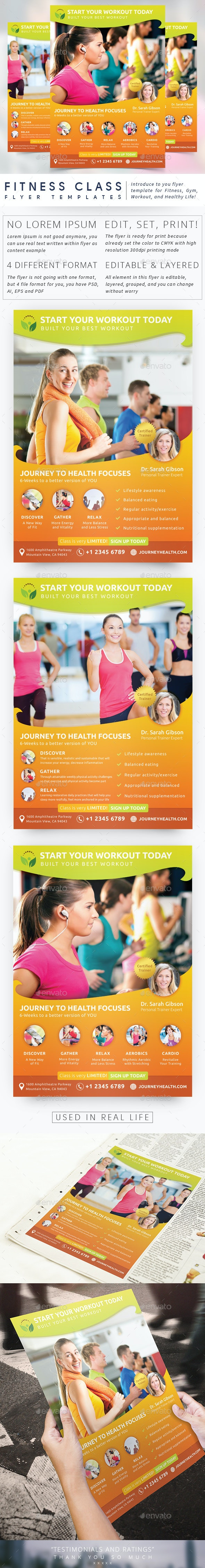 Fitness Class Flyer - Sports Events