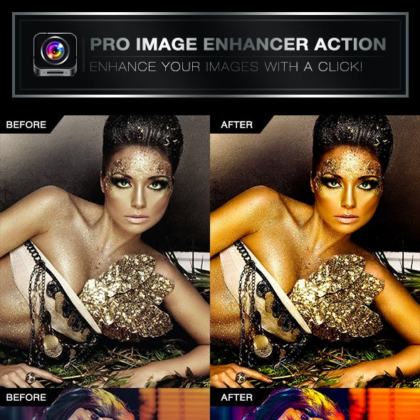 Pro Image Enhancer Photoshop Action