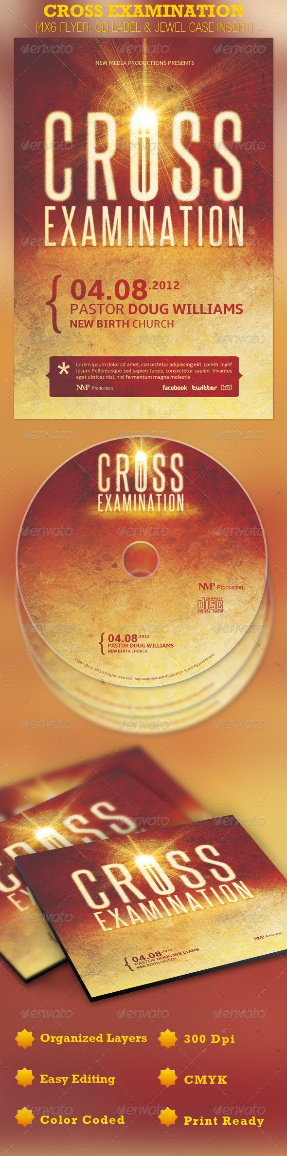 Cross Examination Flyer, CD and Jewel Case - Church Flyers
