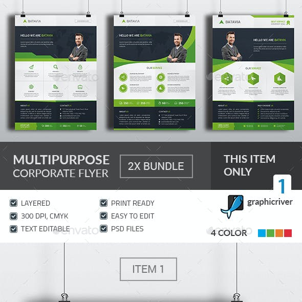 Multipurpose Corporate Flyer Bundle