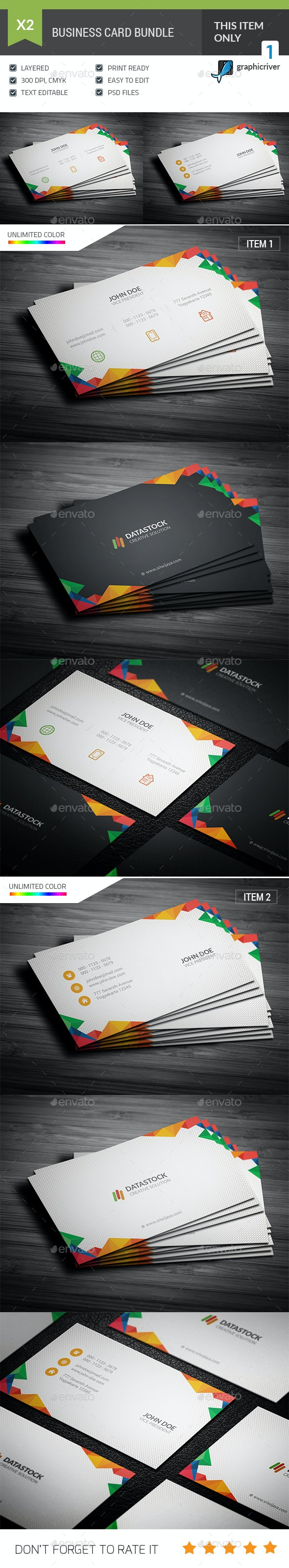 Multicolor Business Card Bundle - Corporate Business Cards
