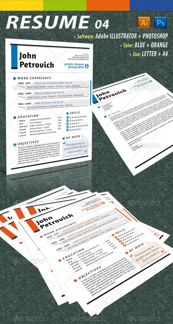 GD Resume 04 - Resumes Stationery