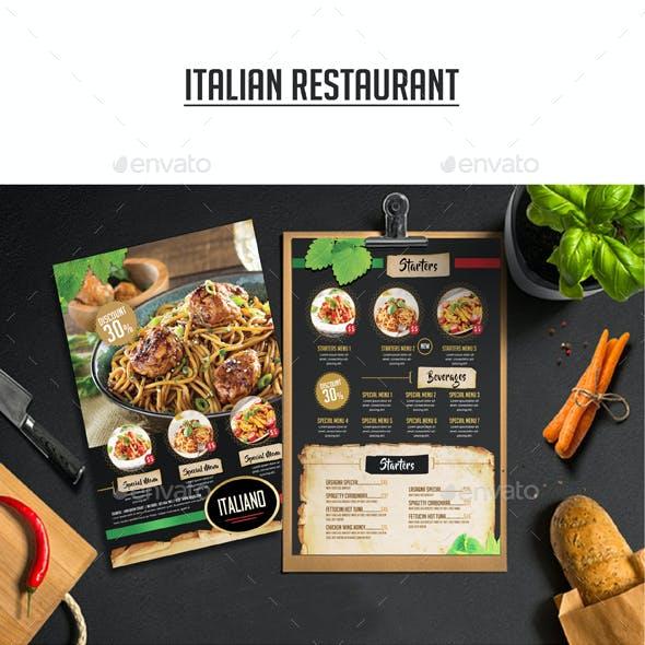 Italian Restaurant Flyer