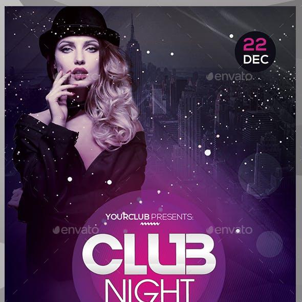 Club Night - PSD Flyer Template