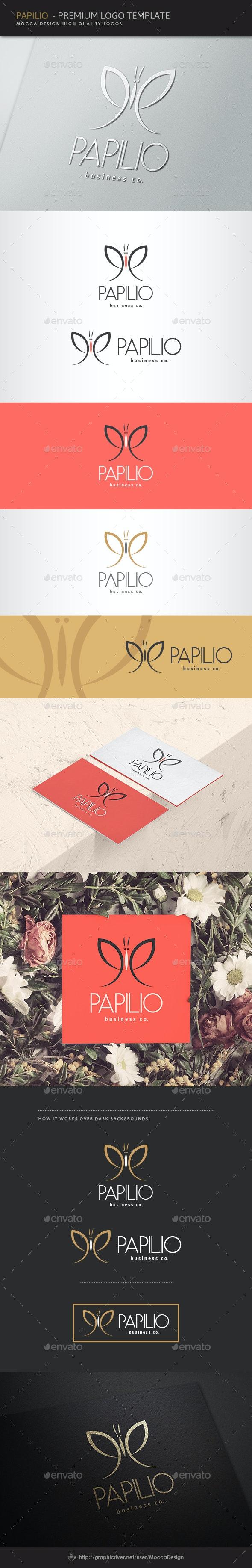 Papilio Logo - Nature Logo Templates