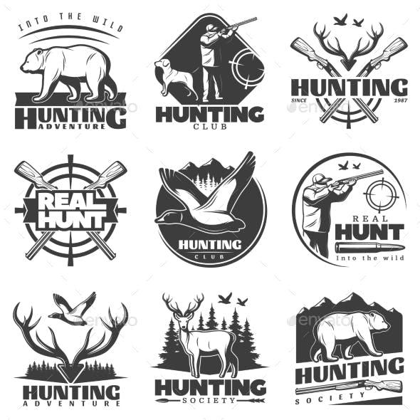 Real Hunt Labels Set
