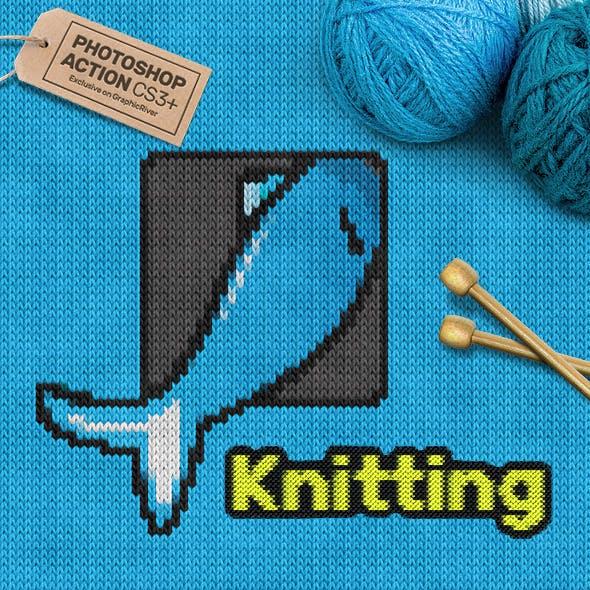 Knitting CS3+ Photoshop Action