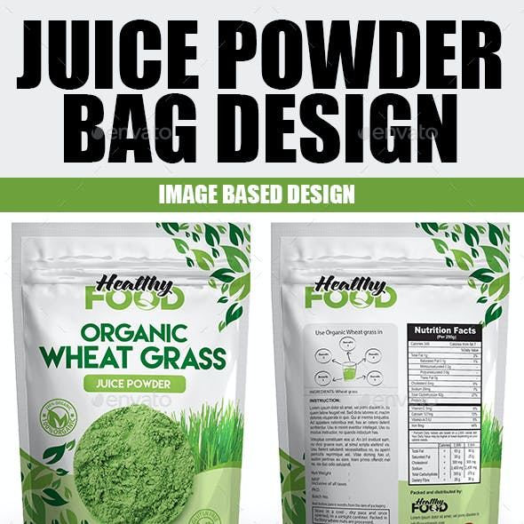 Juice Powder Bag Design Template