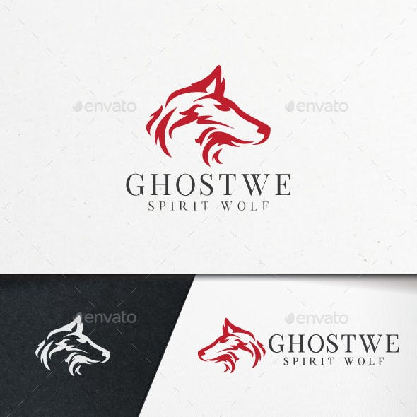 Ghost Wolf Logo Template