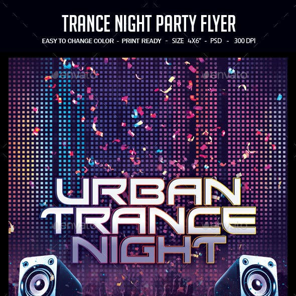 Trance Night Party Flyer