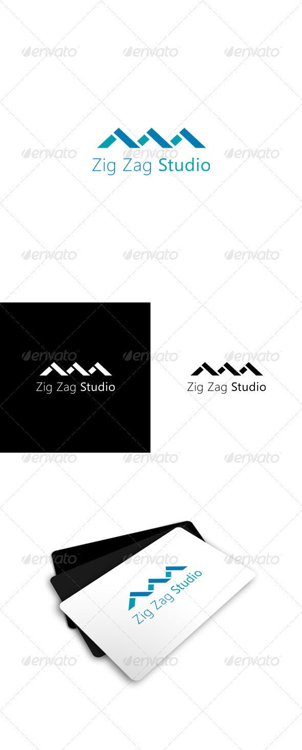 Zig Zag Studio Logo - Vector Abstract
