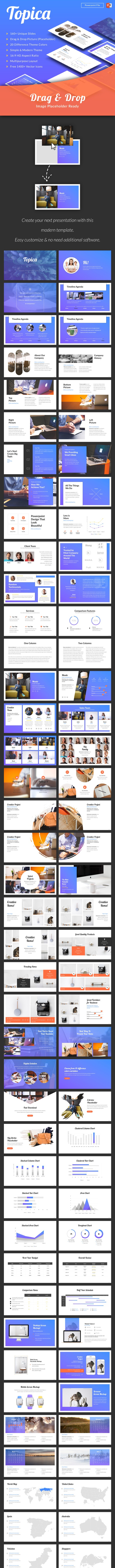 Topica Modern Powerpoint Template - PowerPoint Templates Presentation Templates