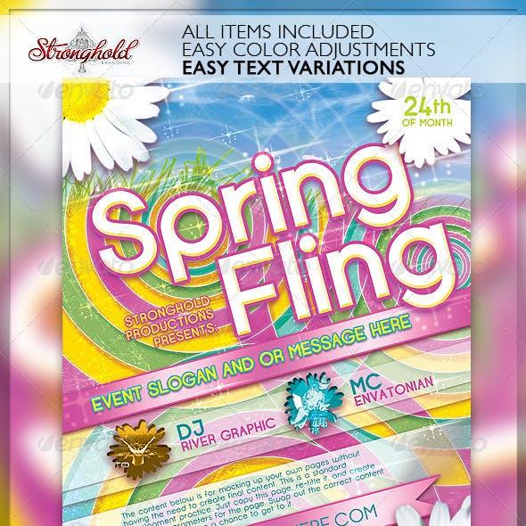 Spring Fling Dance Flyer Template