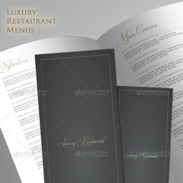Luxury Restaurant Menu Set