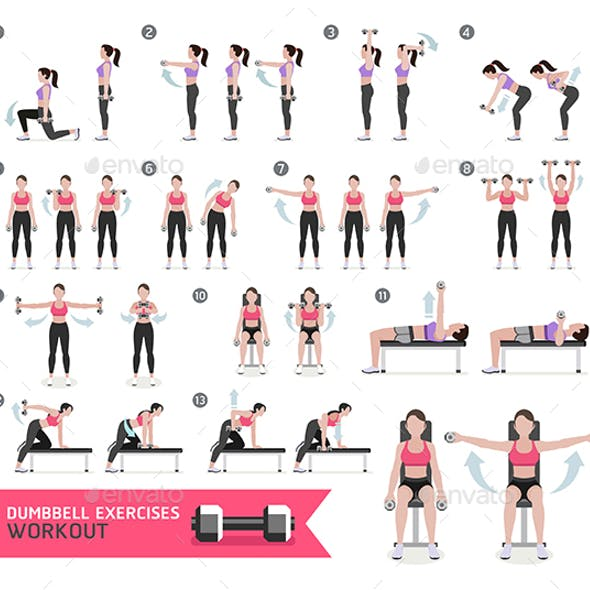 Women Fitness Aerobic and Exercises.