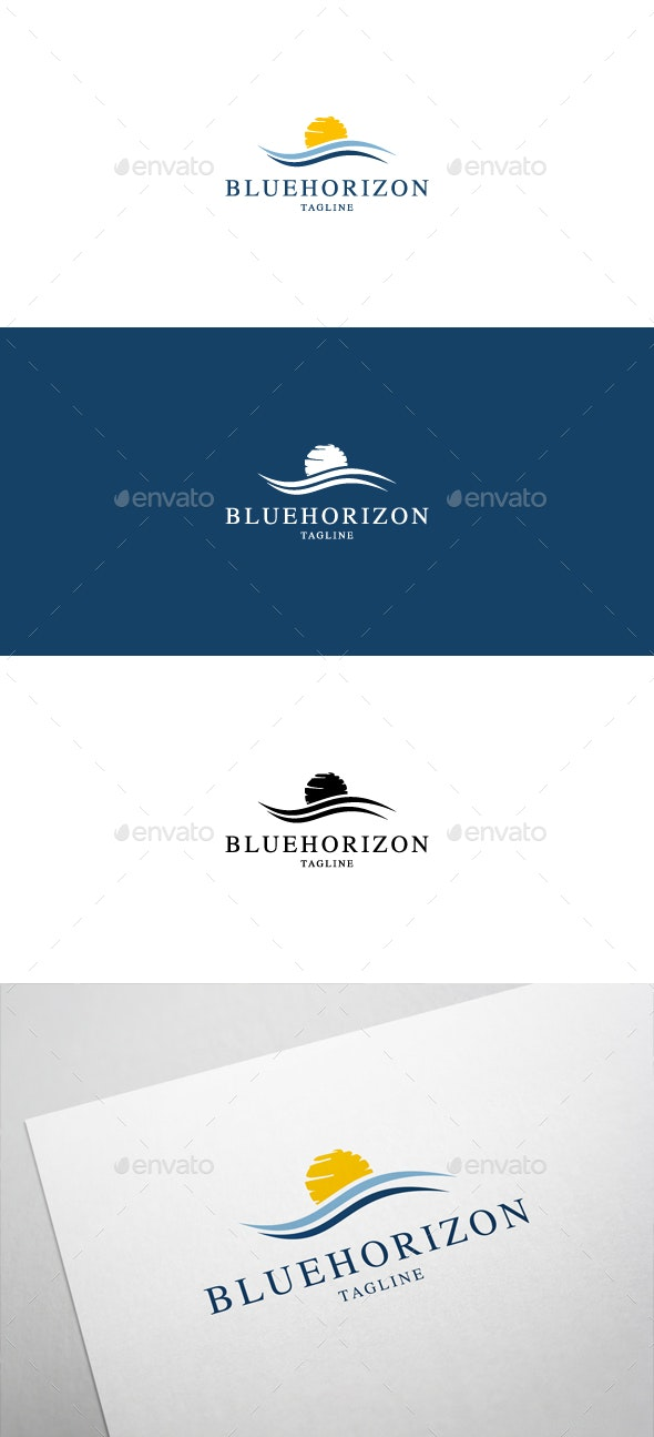 Blue Horizon Logo - Nature Logo Templates
