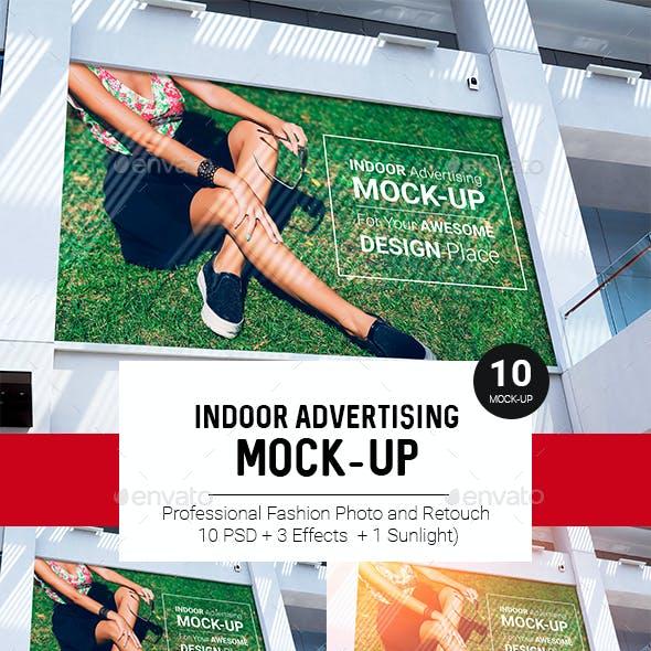 Billboard Indoor Advertising Mock-Up