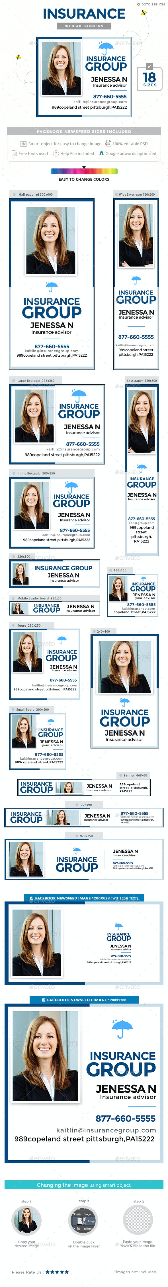 Insurance Ad Banners By Hyov Graphicriver