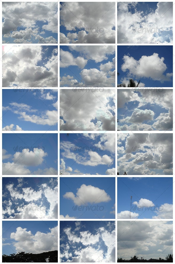 Blue Sky with Clouds - Nature Textures