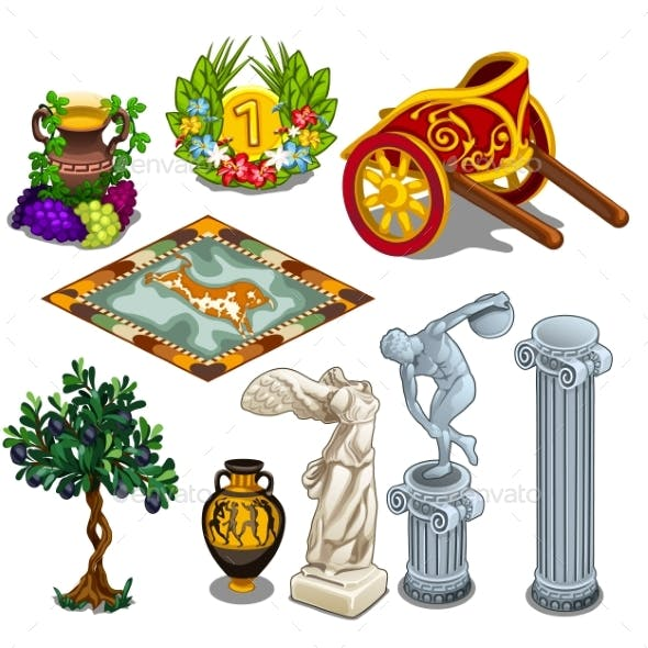 Greek Statues and Other Symbols of Ancient Culture