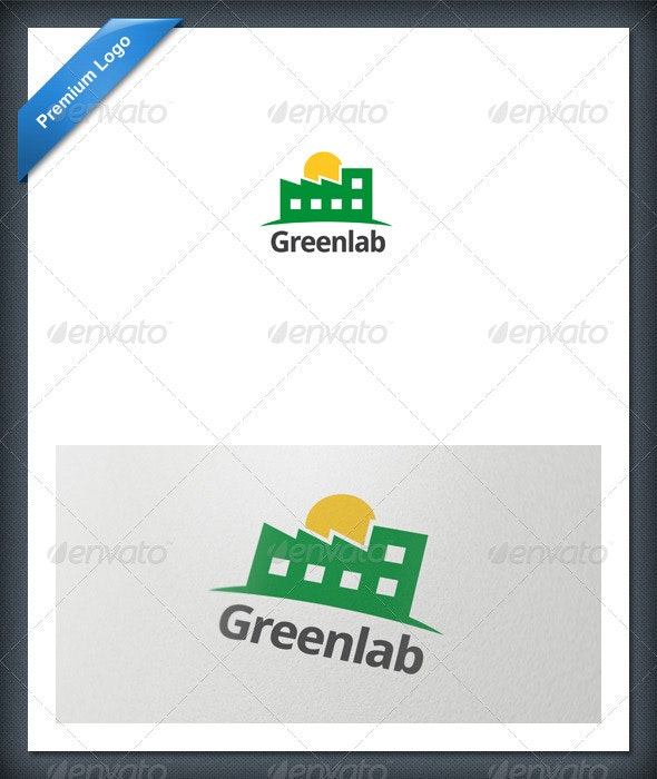 Laboratory Logo Template - Buildings Logo Templates