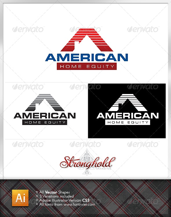American Home Equity - Letters Logo Templates