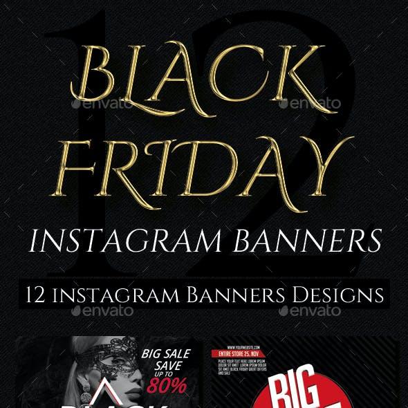 Black Friday Instagram Banner 12 Designs