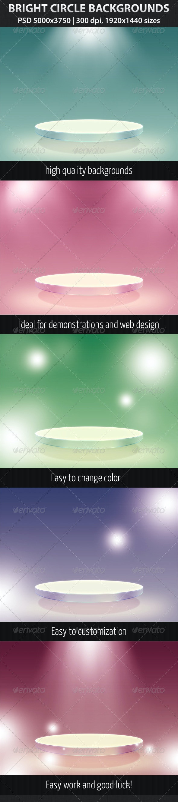 Bright Circle Backgrounds - 3D Backgrounds
