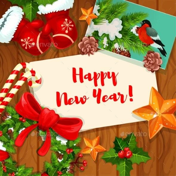 Wnter Holiday Greeting Card Design - New Year Seasons/Holidays