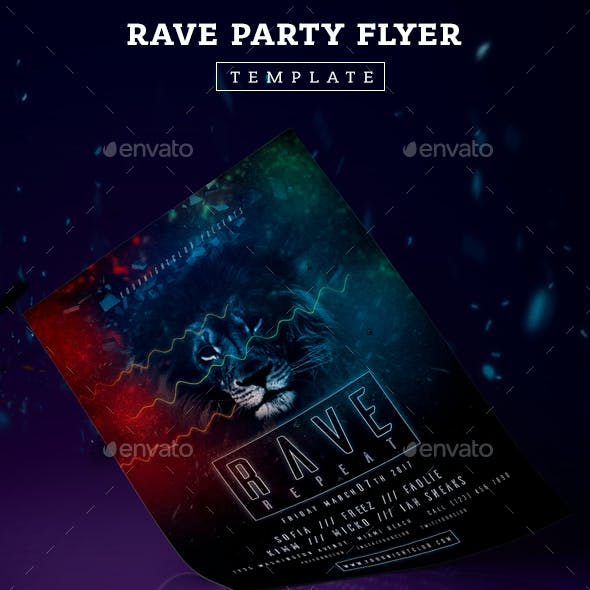 Rave Party Flyer