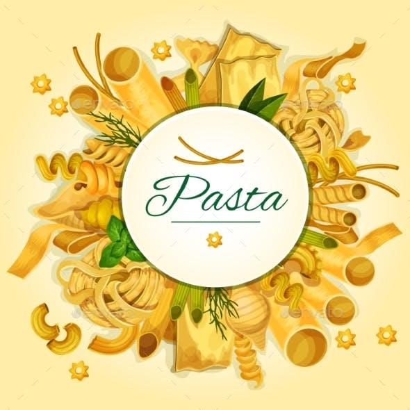 Italian Pasta, Spaghetti and Macaroni Banner