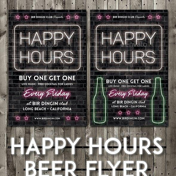 Happy Hours Beer Flyer