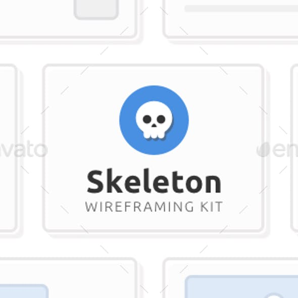 Skeleton Wireframing Kit — 120+ Components for Photoshop