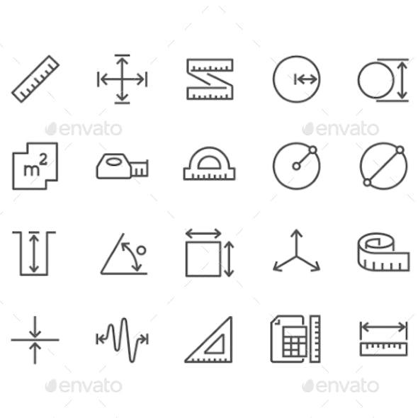 Line Measure Icons