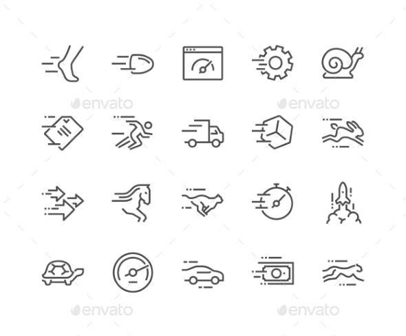Line Speed Icons - Icons