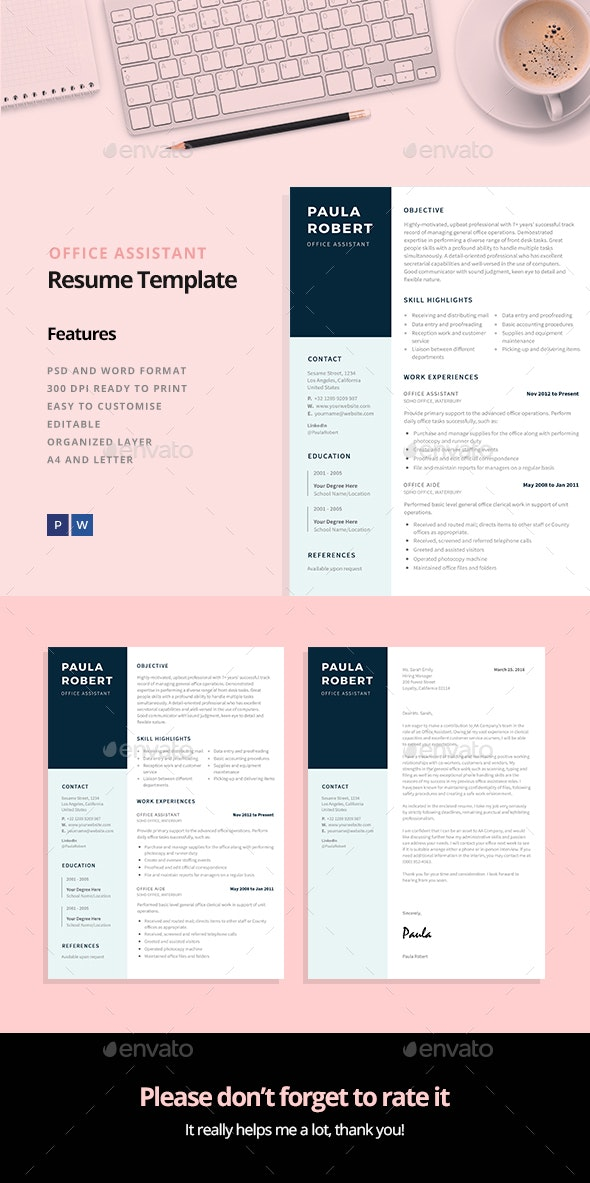 Office Assistant Resume Template - Resumes Stationery