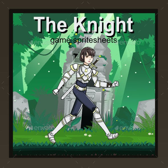 The Knight Sprite Character