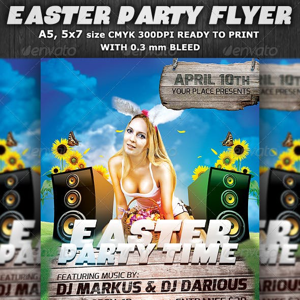 Easter Party Flyer Template v2
