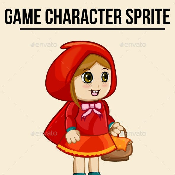 Little Red Riding Hood Sprite Character