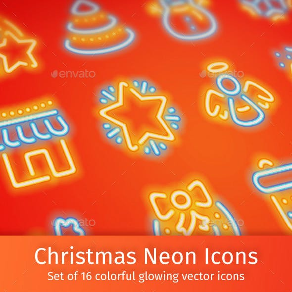 Christmas Neon Icons