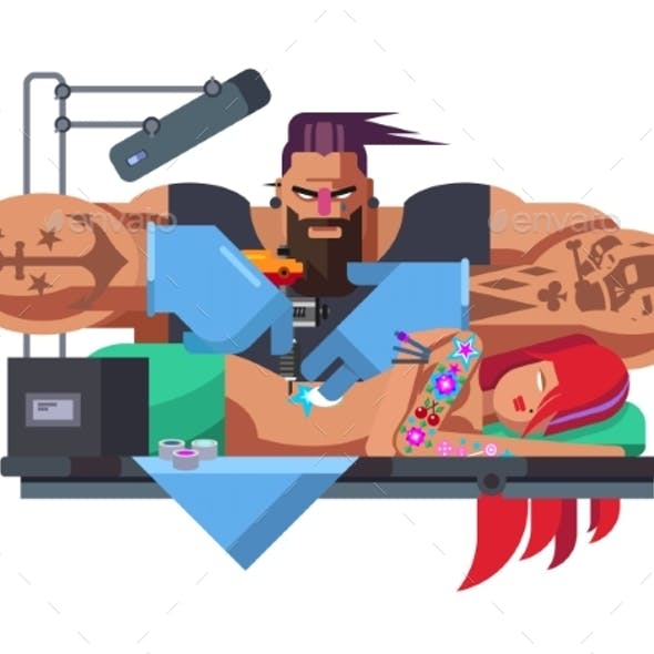 Tattoo Master at Work