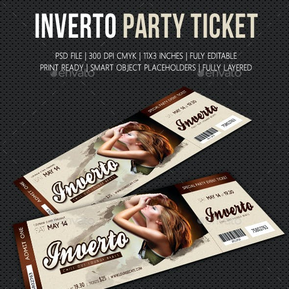 Inverto Party Event Ticket V2