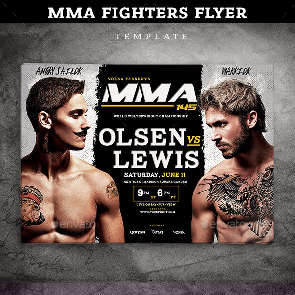 MMA Fighters Flyer template