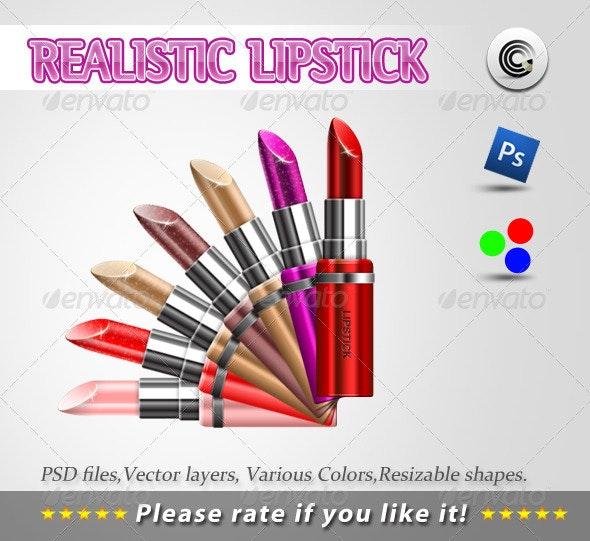 Realistic Llipstick Psd - Beauty Packaging