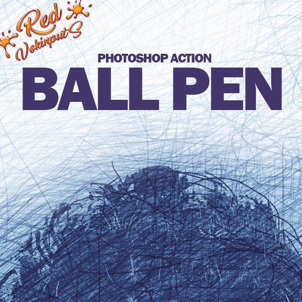 Ball Pen Photoshop Action