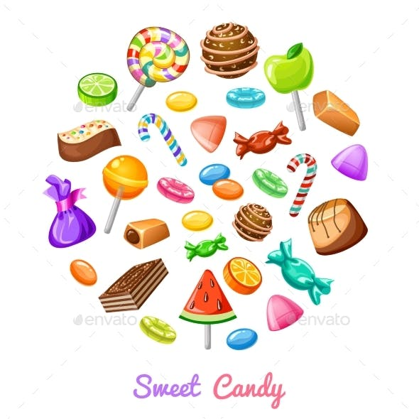 Sweet Candy Composition