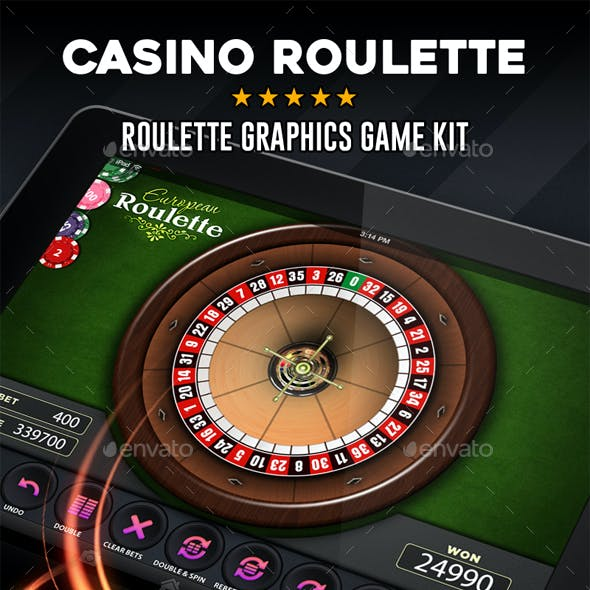 Casino Roulette Graphics Game Kit